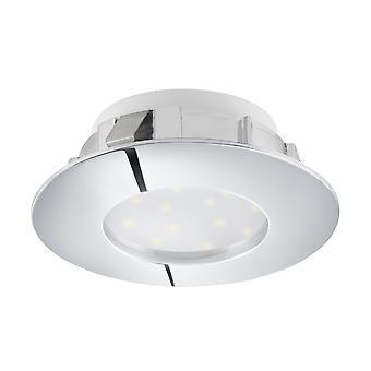 EGLO infällda LED Spot 78mm krom, furu