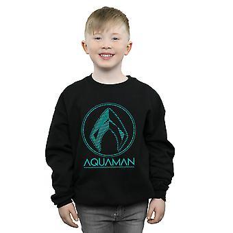 DC Comics мальчиков Аква Aquaman логотип Толстовки