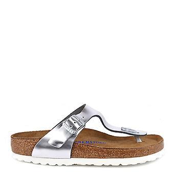Birkenstock Gizeh Metallic Silber Thong Sandal