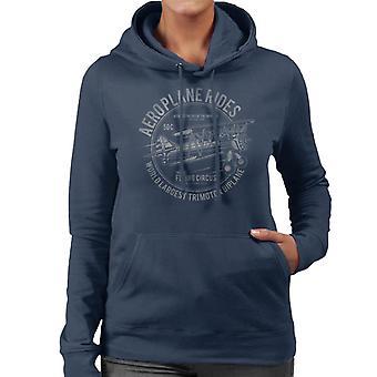 Aeroplane Rides Retro Logo Women's Hooded Sweatshirt
