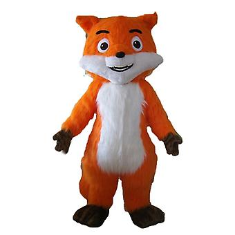 Beautiful SPOTSOUND of orange, white and Brown, very realistic Fox mascot