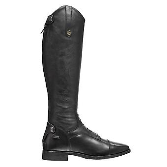 Brogini Unisex Como Riding Boots Long Zip Strap Studs Stretch