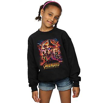 Marvel Girls Avengers Infinity War Movie Poster Sweatshirt
