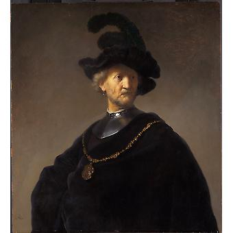 Old man with gorget and,REMBRANDT Harmenszoon van Rijn,60x50cm