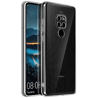 Silicone case, Glossy & matte back cover for Huawei Mate 20 - Transparent