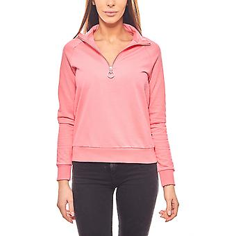 Noisy may stylish ladies pink zip up sweater