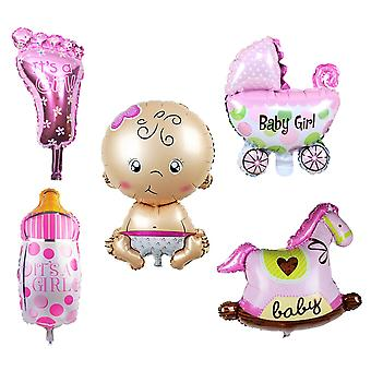 5PC BABY SHOWER BALLOONS PINK