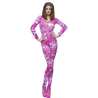 Tie Dye Pink Bodysuit, One Size