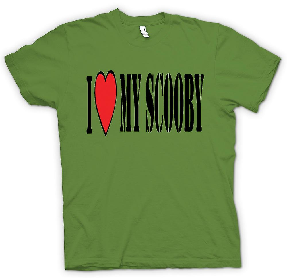 Mens T-shirt - I Love My Scooby Subaru - Voiture