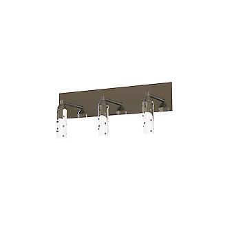 3 Light Glass Wall Sconce Modern Pendant Lampshade Fixture Nickel Bathroom Light