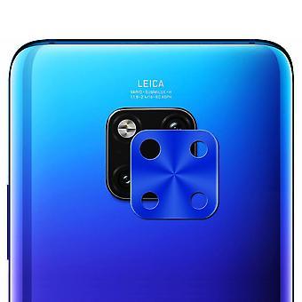Metall Kamera Schutz Ring Rückseite  für Huawei Mate 20 Pro Blau Zubehör Neu