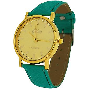 Relda Ladies Analogue Jumbo Goldtone Dial & PU Strap With Buckle