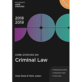 Core säännöt rikosoikeuden 2018-19 (Palgrave Core perussääntö)