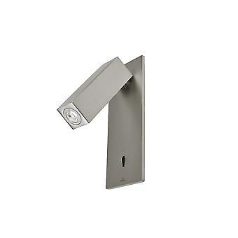 Hall Satin Nickel Recessed LED Reading Lamp - Grok 05-4787-81-81