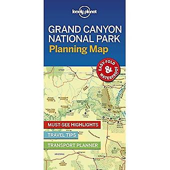 Lonely Planet Nationaal Park Grand Canyon Planning kaart (kaart)