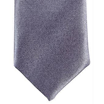 Knightsbridge Neckwear Skinny Polyester Tie - Dark Silver