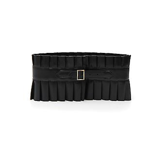Philosophy By Lorenzo Serafini Black Leather Belt