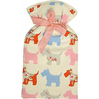 Scottie Dogs 2L Hot Water Bottle & Padded Cotton Cover