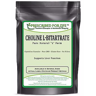 Choline L-Bitartrate - 100% Pure Natural L Form Powder