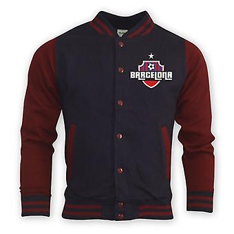 Barcelona College baseball Jacket (Navy)