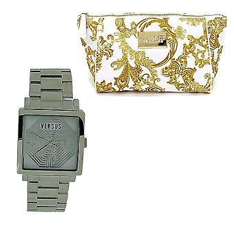 Versace Dazzle Ladies Analogue All Stainless Steel Dress Watch AL12SBQ901-A099 + Free Versace Bag