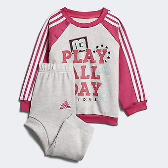 Adidas Infant Girls Graphic French Terry Tracksuit Set