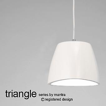 Mantra Triangle 220 Petit Pendentif Light In Gloss White