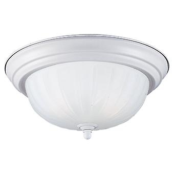 Sea Gull Lighting 79505BLE-162 Flush Mount with Satin White Glass Shades, Textured Snow Finish