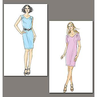 Misses' Dress  F5 16  18  20  22  24 Pattern V8647  F50