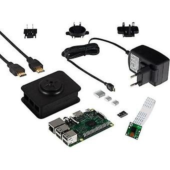 Raspberry Pi® 3 Model B Camera Kit 1 GB Noobs incl. PSU, incl. software, incl. IP camera, incl. Noobs operating system