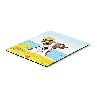 Jack Russell Terrier Summer Beach Mouse Pad, Hot Pad or Trivet BB2070MP