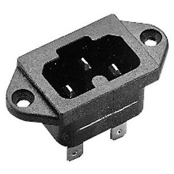 Hot wire connector C16A ATT.LOV.SERIES_POWERCONNECTORS 771 Plug, vertical mount Total number of pins: 2 + PE 10 A Black