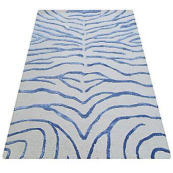 Teppiche - Bakero - Zebra blau