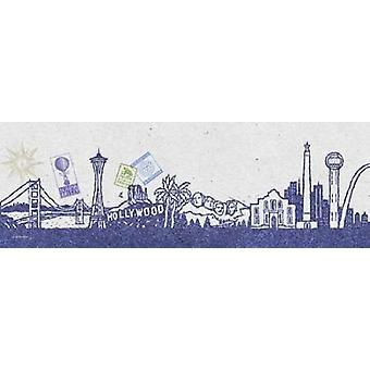 National Skyline I Poster Print by Sudi McCollum