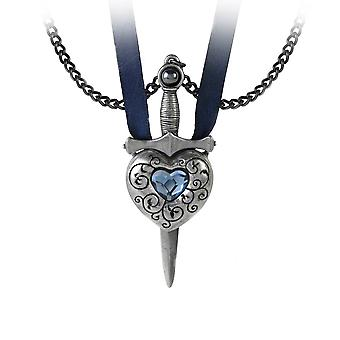 Alchemy Gothic Love Is King Heart and Dagger Pendant Necklace