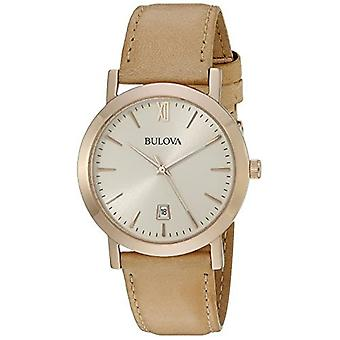 Bulova Men's 97B144 Classic Analog Display Quartz Beige Watch
