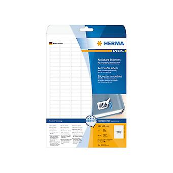 Labels white HERMA Movables 25, 4 x 10 A4 4725 pcs.