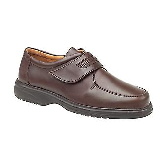 Amblers Mens Berlin Featherlight Mens Shoes Velcro Leather PU Fastening Straps