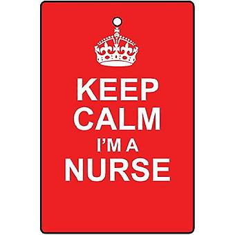 Keep Calm I'm A Nurse Car Air Freshener