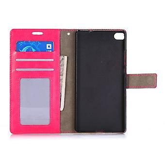 Pocket wallet premium Pink for Huawei Ascend P8