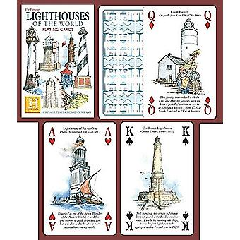 Lighthouses Of The World set of 52 playing cards (+ jokers)    (hpc)