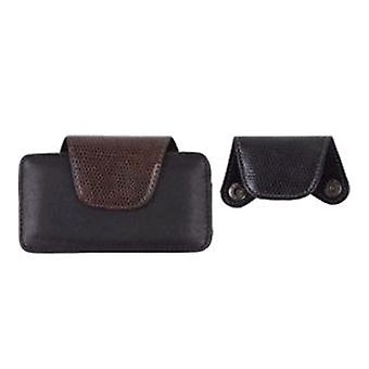 Wireless Solutions Universal Leather Pouch w/ Changeable Flaps - Black/Brown