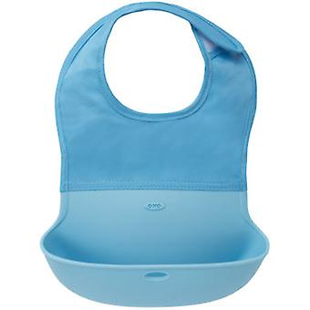 Oxo-Tot Folding Blue Babero- (Childhood , Healthy diet , Power Accessories , Bibs)