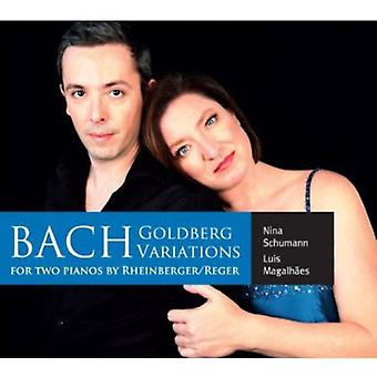 J.S. Bach - Bachs Goldberg-variationer for to klaverer af Rheinberger/Reger [CD] USA import