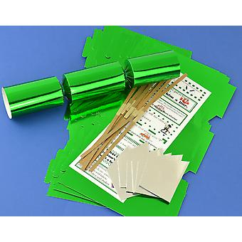 12 Green Foil Make & Fill Your Own Cracker Kits | DIY Christmas Cracker Crafts