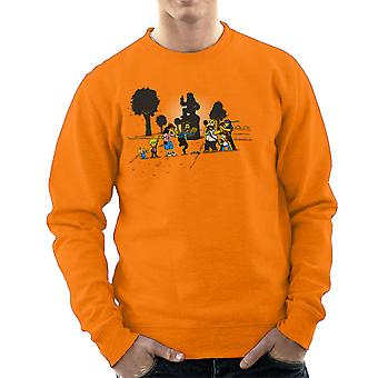Yellow Fever the Simpsons Walking Dead Men's Sweatshirt