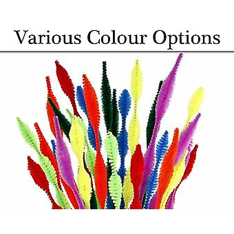 12 Pack Bumpy Craft Chenille Pipe Cleaners - Choice of Colours