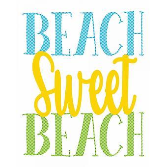 Douce plage Poster Print par Alli Rogosich