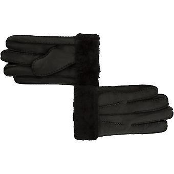 Ashwood Ashwood Mens Leather Fur Cuff Gloves