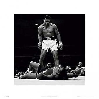 Muhammad Ali contro Sonny Liston Poster Print (16 x 16)